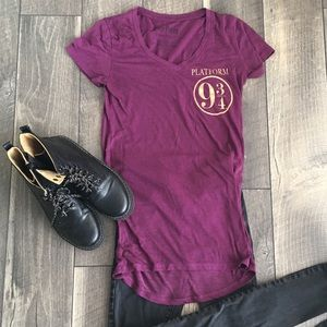 HARRY POTTER FITTED TEE platform 9 3/4